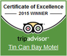 Tin Can Bay Motel - TripAdvisor 2015 Certificate of Excellence