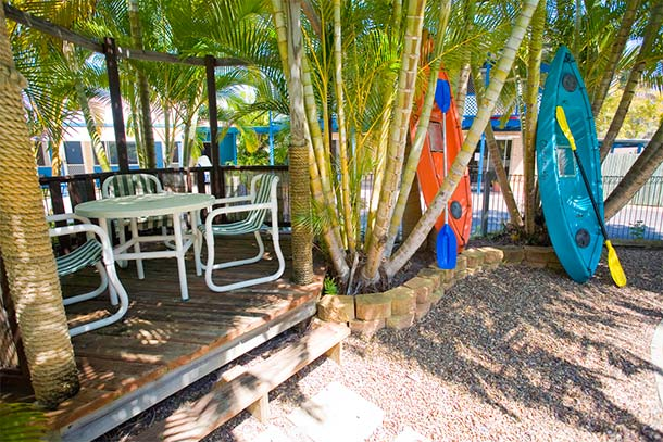 BBQ area at Tin Can Bay Motel